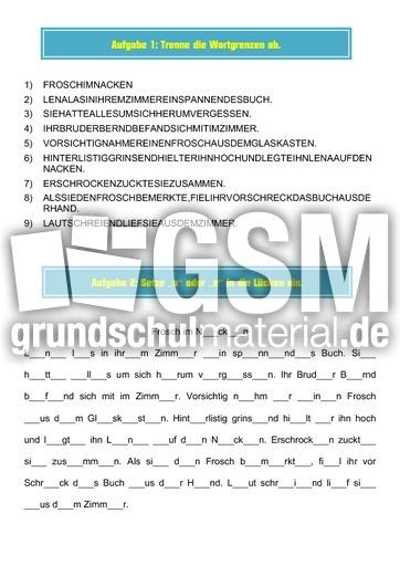 Pdf mappe frosch im nacken diktatmappen diktate - Frosch englisch ...