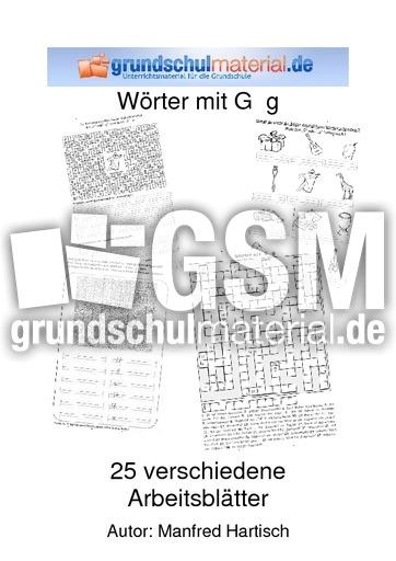 Wörter mit G g - Wörter mit G - g - Rechtschreibfälle ...
