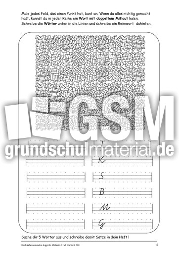 Wu00f6rter mit Doppelkonsonanten - doppelte Mitlaute - Rechtschreibfu00e4lle - Rechtschreibung - Deutsch ...