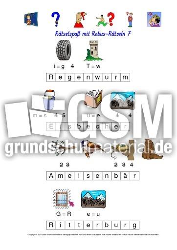 Rebus-Rätsel-Kartei-LÖS 7 - Wörterrätsel - Rebusrätsel ...