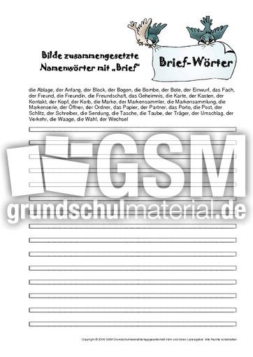 Briefe Schreiben Klassenarbeit 5 Klasse : Zus ges nomen brief pdf