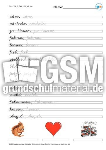 Schönschrift Und Rechtschreiben Va Heft 4 Vereinfachte
