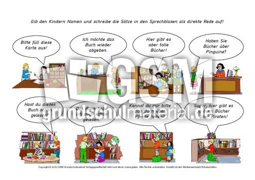 w rtliche rede sprachblasen 1 15 kartei redezeichen einsetzen w rtliche rede deutsch. Black Bedroom Furniture Sets. Home Design Ideas