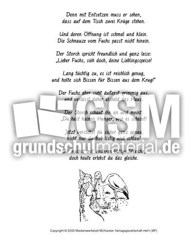 fuchs und storch fabeln in reimform fabeln deutsch