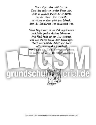 Hase und Schildkru00f6te - Fabeln in Reimform - Fabeln ...