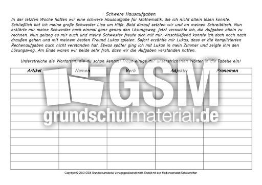 ab wortarten bestimmen 1 10 ab wortarten bestimmen grammatik deutsch klasse 4. Black Bedroom Furniture Sets. Home Design Ideas