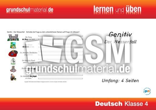 Vier f lle genitiv grammatik lernhefte grammatik deutsch klasse 4 for Genitiv deutsch lernen