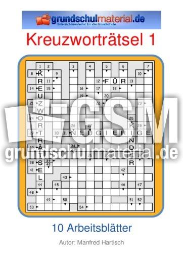 Kreuzworträtsel 01 - Kreuzworträtsel - Kreuzworträtsel, Silbenrätsel ...