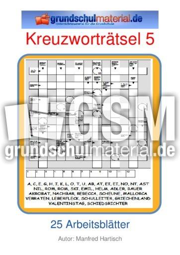 Kreuzworträtsel 05 Kreuzworträtsel Kreuzworträtsel Silbenrätsel