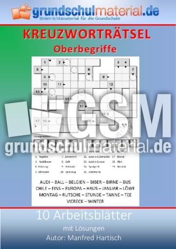 Oberbegriffe - Kreuzworträtsel - Kreuzworträtsel, Silbenrätsel ...