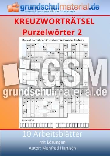 Purzelwörter_2 - Kreuzworträtsel - Kreuzworträtsel, Silbenrätsel ...