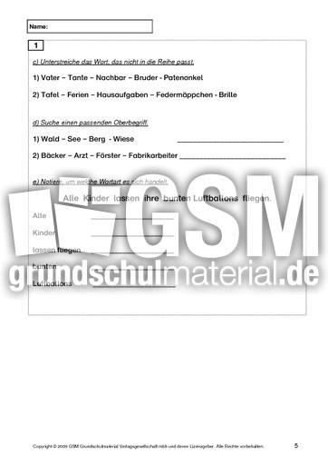 Test Deutsch Ende 5. Klasse - Jahrestests - Lernstandserhebung ...