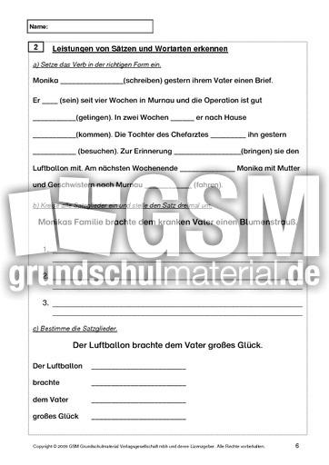 Test Deutsch Ende 5 Klasse Jahrestests Lernstandserhebung
