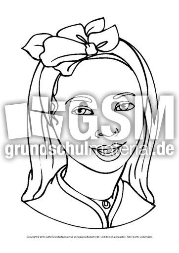 Ausmalbilder Portait Mädchen B 1 10 Ausmalbilder Portraits