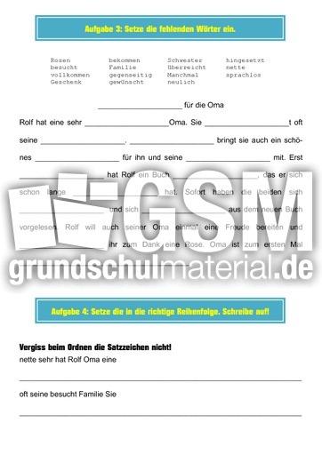 pdf mappe rosen fu00fcr die Oma - Diktatmappen mit u00dcbungen ...