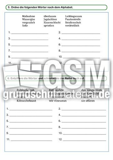 lernwortmappe ss oder lernwortmappen mit bungen rechtschreibung deutsch klasse 4. Black Bedroom Furniture Sets. Home Design Ideas