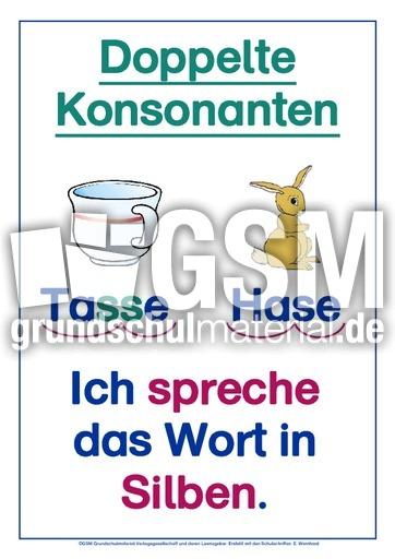 Doppelte Konsonanten, Kl. 4, SAS - LehrplanPlus RS-Strategien - Rechtschreibstrategien ...