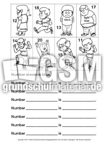 ab numbers read and colour 2 ab read colour draw arbeitsbl tter englisch klasse 3. Black Bedroom Furniture Sets. Home Design Ideas