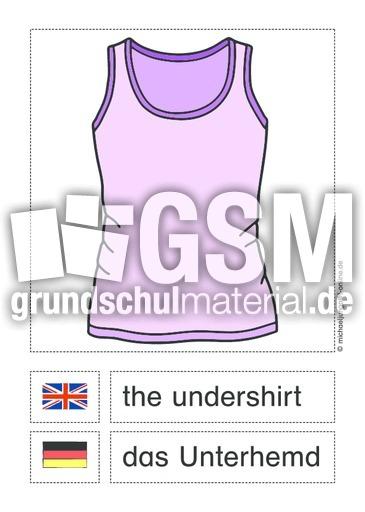 Kleidung englisch deutsch