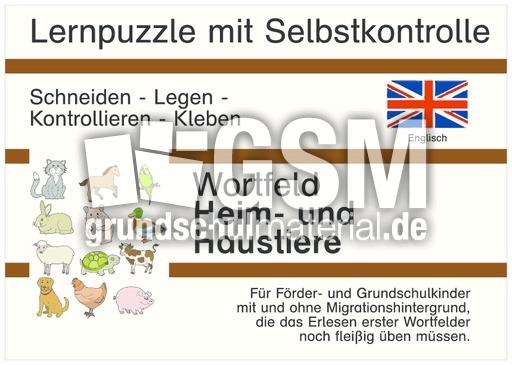 Heim Und Haustiere Englisch D Lernpuzzle Games Englisch