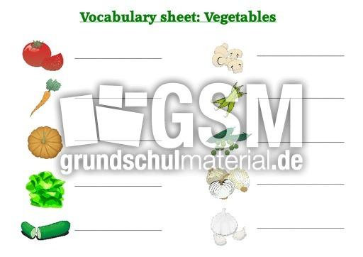 vegetables vocabulary sheets arbeitsbl tter englisch klasse 4. Black Bedroom Furniture Sets. Home Design Ideas