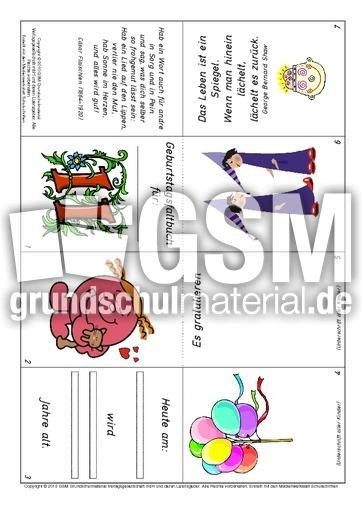Faltbuch geburtstag 11 mädchen pdf