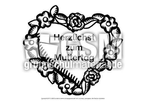 Herz-Wunsch-Muttertag-5 - Herz-Wünsche - Basteleien - Muttertag ...