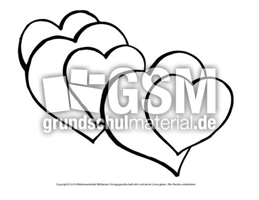 Bild-Herz 17 - Herzschablonen - Basteleien - Muttertag-Klasse-1-2 ...