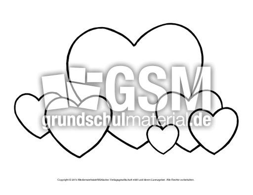 Bild-Herz 19 - Herzschablonen - Basteleien - Muttertag-Klasse-1-2 ...