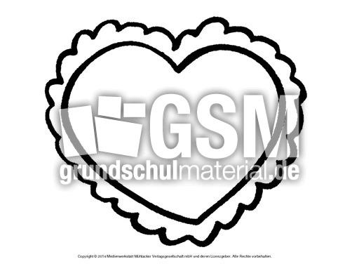 Bild-Herz 4 - Herzschablonen - Basteleien - Muttertag-Klasse-1-2 ...