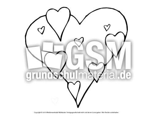 Bild-Herz 5 - Herzschablonen - Basteleien - Muttertag-Klasse-1-2 ...