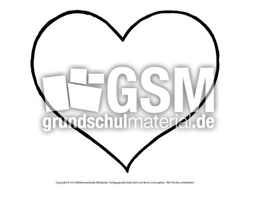Bild-Herz 7 - Herzschablonen - Basteleien - Muttertag-Klasse-1-2 ...
