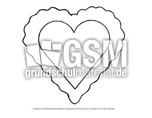 Bild-Herz 8 - Herzschablonen - Basteleien - Muttertag-Klasse-1-2 ...