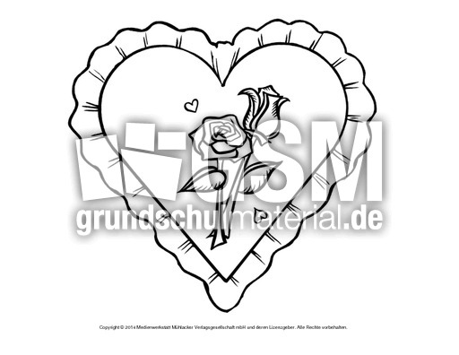 Bild-Herz 9 - Herzschablonen - Basteleien - Muttertag-Klasse-1-2 ...