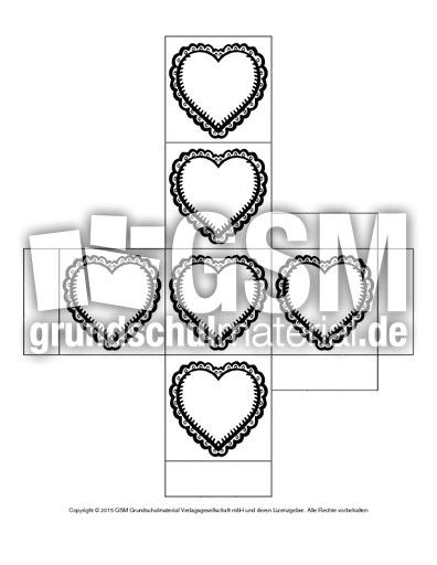 Würfel-Muttertag-Herz-2 - Würfelgutschein - Basteleien - Muttertag ...