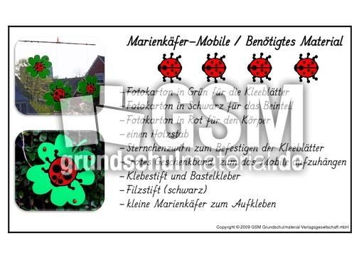 Marienkäfer Mobile Bastelanleitung 1 3 Basteleien