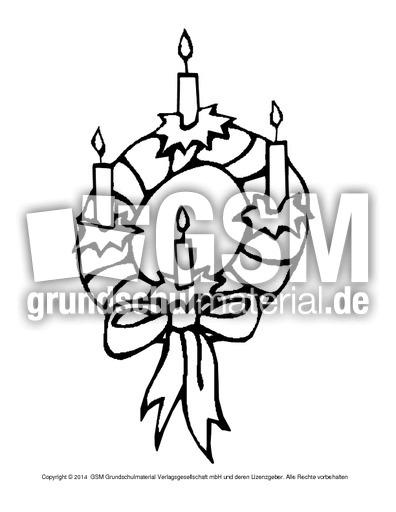 Ausmalbild Adventskranz 9 Adventszeit Ausmalbilder Weihnachten