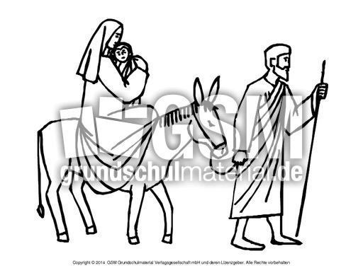 Berühmt Mary Und Joseph Malvorlagen Zeitgenössisch - Beispiel ...