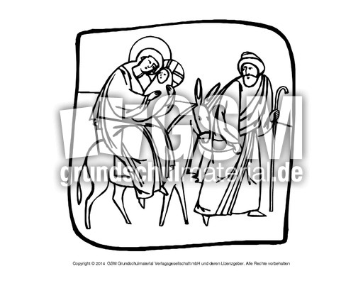 ausmalbildhlfamilie2  religiöse motive  ausmalbilder