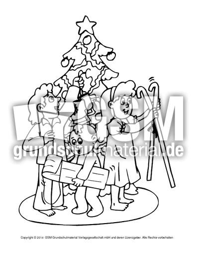 ausmalbild-weihnachtsabend-8 - weihnachten - ausmalbilder