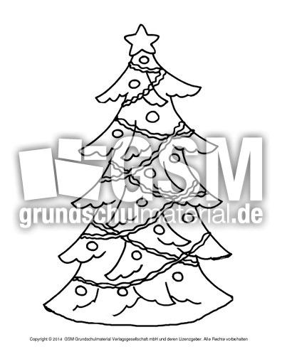 ausmalbild-weihnachtsbaum-6 - weihnachten - ausmalbilder