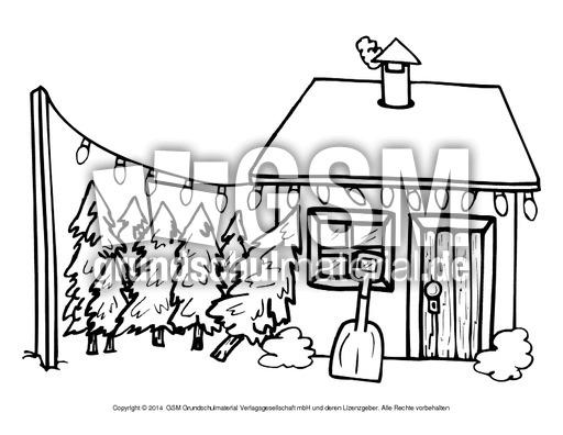 weihnachtsmann mit wichtel zum ausmalen zum ausmalen de. Black Bedroom Furniture Sets. Home Design Ideas