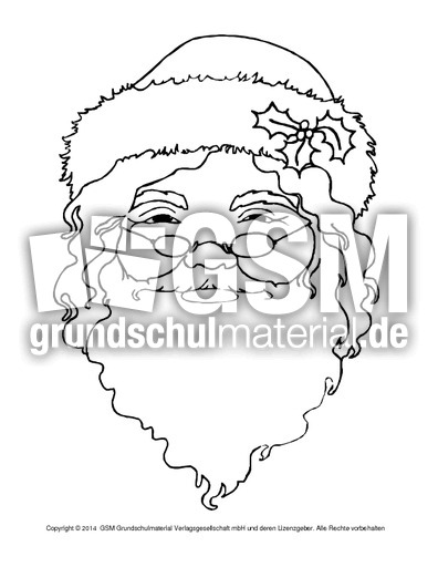ausmalbild-weihnachtsmann-12 - weihnachtsmann