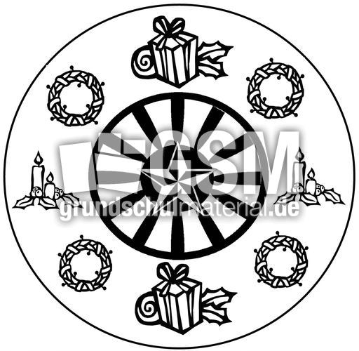 weihnachts mandala 3 mandalas als jpg weihnachten. Black Bedroom Furniture Sets. Home Design Ideas