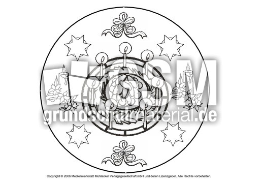 weihnachts mandala 6 mandalas als pdf weihnachten. Black Bedroom Furniture Sets. Home Design Ideas