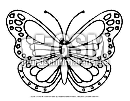 Ausmalbild Schmetterling 1 Ausmalbilder Schmetterling Frühling