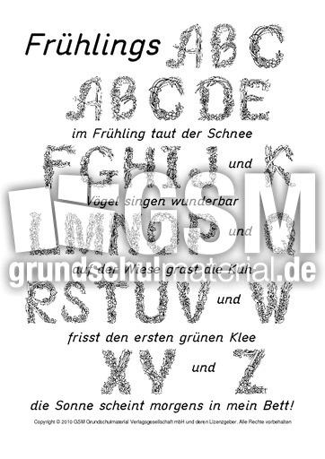 Frühlings-ABC-1 - Gedichte - Frühling - Jahreszeiten - HuS Klasse 1 ...
