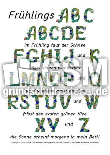 Frühlings-ABC-2 - Gedichte - Frühling - Jahreszeiten - HuS Klasse 1 ...