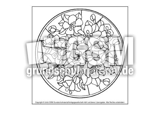 Blumen Mandala A2 Mandala Blumen Mandalas Frühling