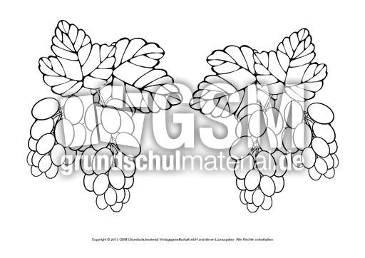 Ausmalbilder Herbstfrüchte B 1 10 Ausmalbilder Herbst